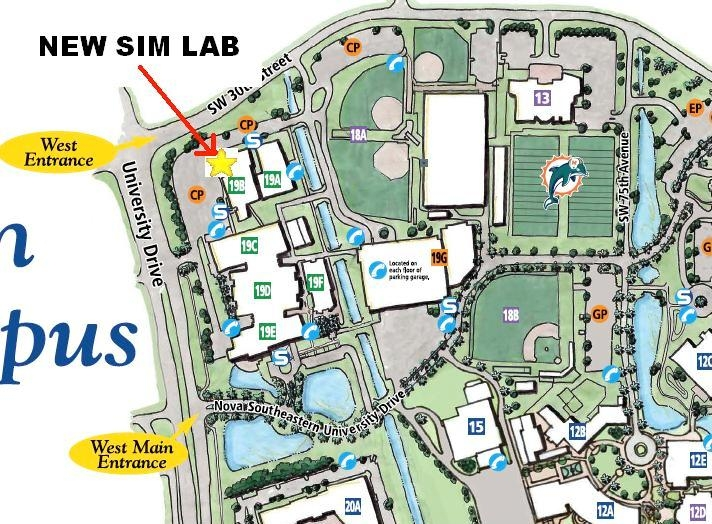 nova southeastern university campus map Directions To Simulation Labs Nsu Medical Education Department nova southeastern university campus map