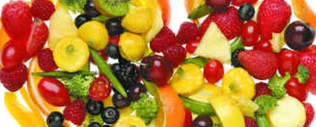 eat five everyday - fruits and vegetables