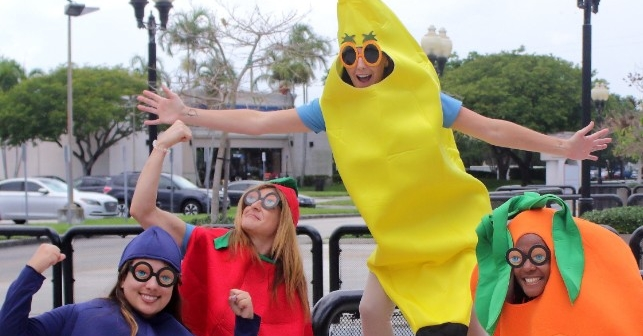 Nutrition students have fun dressed as fruits